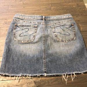 Silver jeans jean skirt
